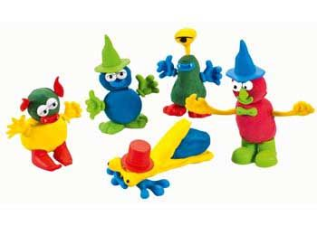 Make fun monster characters from this bucket of pieces! Just add dough