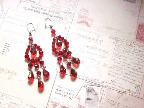 #RUBY #CRYSTALS #TEARDROP #CHANDELIER #EARRING by EJI JEWELRY - #handmade jewelry #red #handmadejewelry #handmadeearrings #jewelrydesigner #jewelrystore #shopping #party #partyjewelry #partyearrings #weddingjewelry #bridesmaidjewelry #crystalbeads #crystalearrings #crystaljewelry #craft #onlinejewelrystore #jewelryblog #fashion #jewellery #chandelierearrings #accessories #womanjewelry #statementearrings #fashionstatement #classy #ethnic #style #fashionaccessories #readytowear #beautiful…