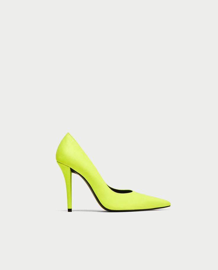 Image 2 of YELLOW HIGH HEEL COURT SHOES from Zara