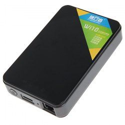 $113.99 Freelander WI10 500GB Multifunctional Wireless Mobile Hard Disk Support Wirelss Routing/Data Sharing -Black