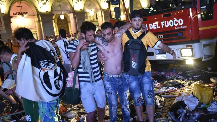 Reuters   More than a thousand Juventus soccer fans watching the Champions League final on screens in one of Turin's main squares late on Saturday were injured when loud bangs created panic and mayhem. Around 1,400 people were treated for slight injuries, Italian media reported. About... - #Fans, #Injured, #News, #Soccer, #Stampede, #Turi