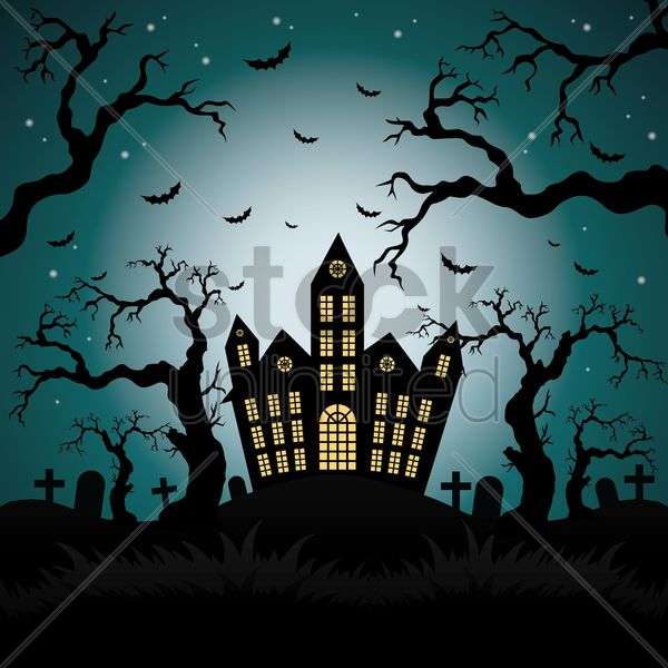 happy halloween card vector graphic