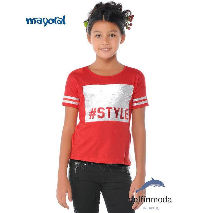 Camiseta de niña juvenil MAYORAL lentejuelas REVERSIBLES