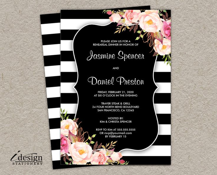64 best Rehearsal Dinner Invitations images on Pinterest - printable dinner invitations