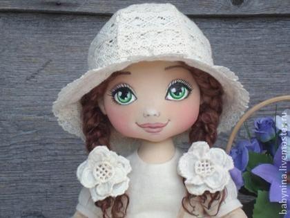 Малышка Лизонька - бежевый,кукла ручной работы,кукла в подарок,кукла текстильная