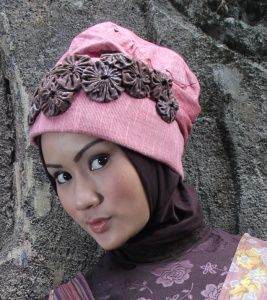 Batik and Lurik hijab accessories by Astrid Ediati