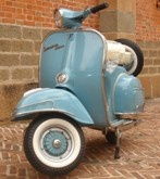 All of our Vespas are gas powered scooters that get very good gas mileage