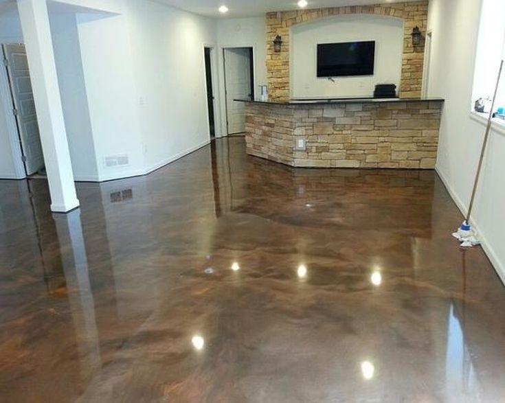Stylish Brown Epoxy Basement Floor Paint Ideas Flooring Ideas Floor Also  Bestu2026