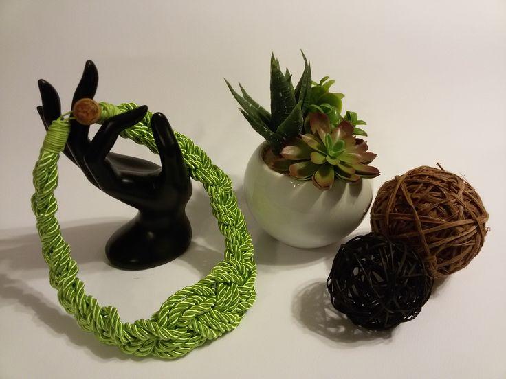 Collana in corda stile nautico handmade : Collane di officina677