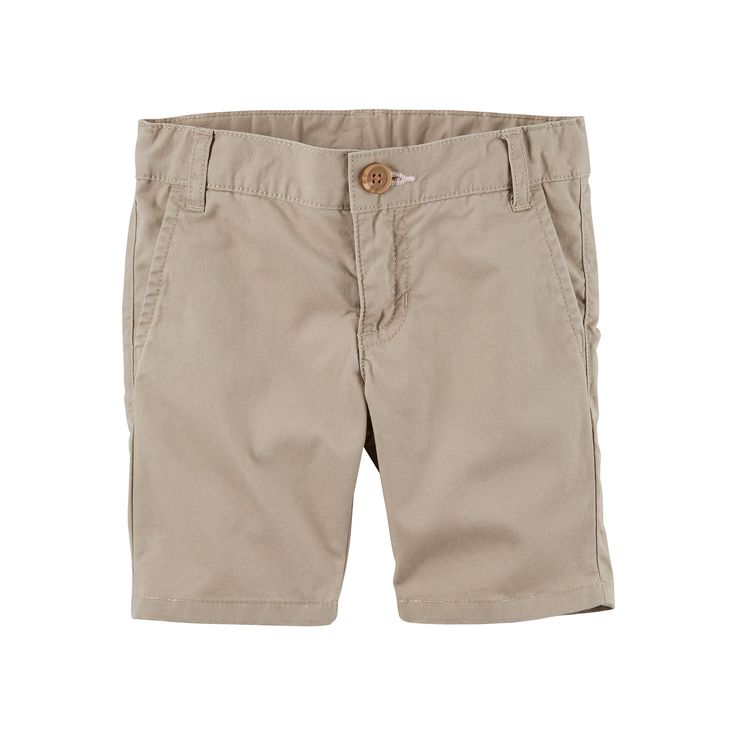 Girls 4-8 Carter's School Uniform Twill Shorts, Size: 6X, Med Beige