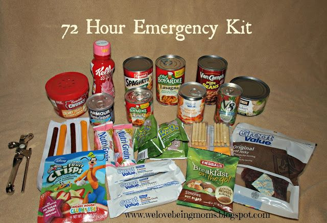 We Love Being Moms!: 72 Hour Emergency Kit
