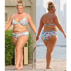 Plus Size Entertainment Fashion: UK Reality TV Star & Plus Size Designer Gemma Collins Rocks a Bikini While On Vacation - PLUS Model Mag