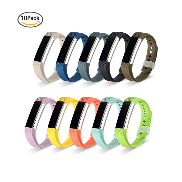 10PCS Fitbit Alta Bands, Fitbit Alta Classic Metal Button Accessory Large Small Replacement Bands (No tracker)