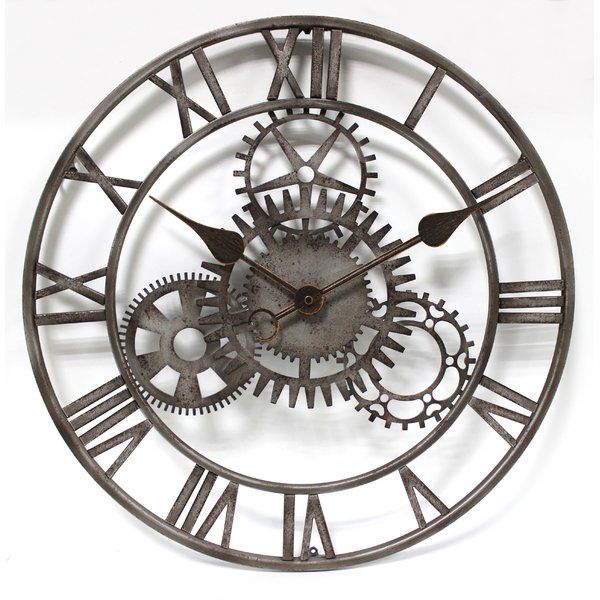 Fiora The Cog 50 8cm Wall Clock Large Vintage Wall Clocks