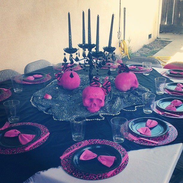 Metal Mulisha Maidens Inspired Birthday Party Table