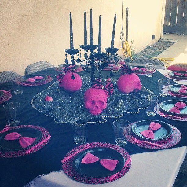Metal Mulisha Maidens inspired birthday party table