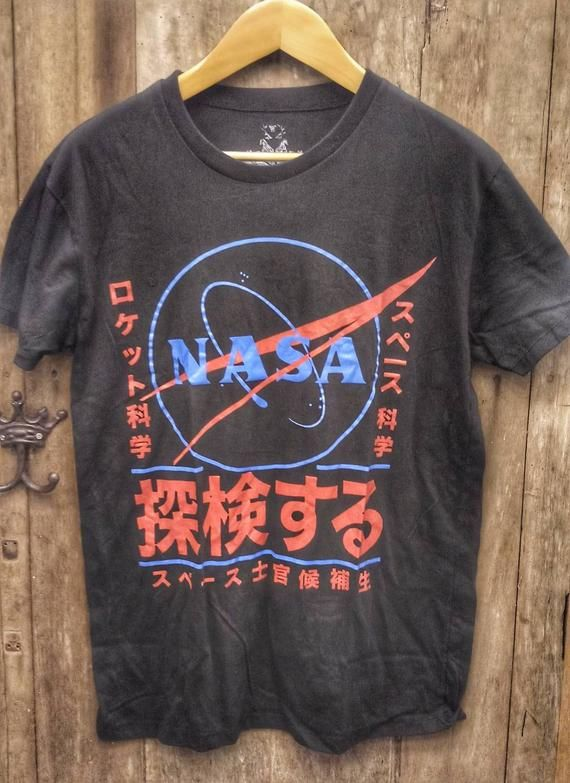 Check Out This Item In My Etsy Shop Https Www Etsy Com Listing 754228207 Nasa Vintage T Shirt Japan Style Vintage Band T Shirts Nasa Vintage Vintage Tshirts