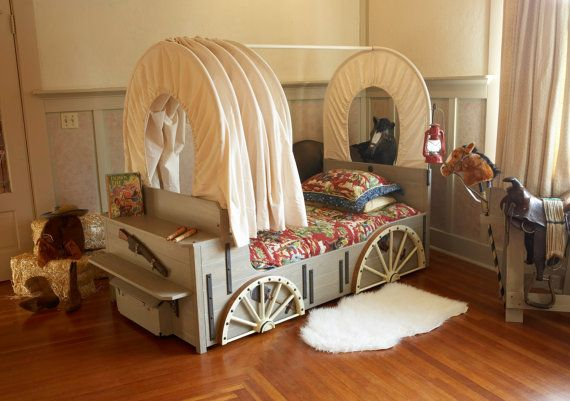 Cowboy Bed Cowboy Bedroom Theme Bed Chuckwagon by FableBedworks