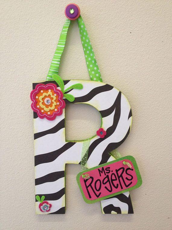 SuperDuper Embellished Letters cute & custom by WhatchawantDesign, $20.00: Quick Ideas, Doors Decor, Schools Teaching Ideas, Doors Hangers, Cute Teacher Gifts, Gifts Ideas, Front Doors, Tina Ideas, Classroom Ideas