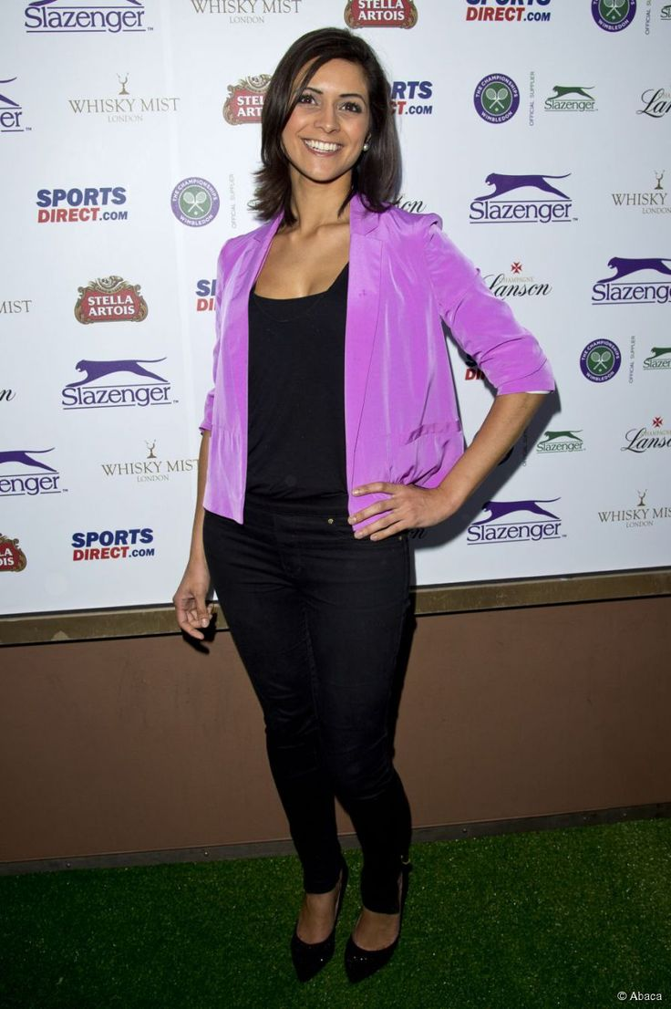 ITV weather sexy girl Lucy Verasamy brought some sun to a party hosted by Slazenger during the Wimbledon tennis championships at Whisky Mist on 27 June 2013 in London, England.