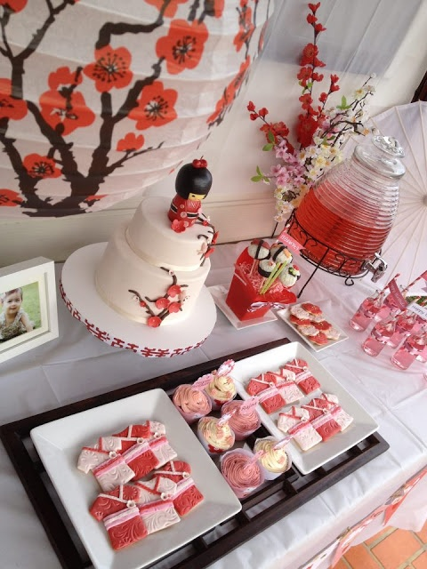 Aniversário com tema japonês. Kokeshi Party <3 <3