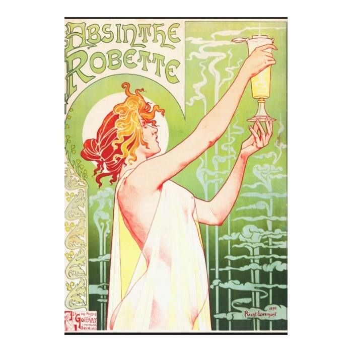 Customizable #Absinthe #Alcohol #Deco #Drink #Green #Liquor #Mist #Nouveau #Redhead #Robette #Vangoghcustom #Woman Absinthe Robette Canvas Print available WorldWide on http://bit.ly/2g0nNQY