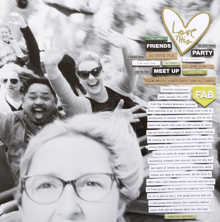 Ali Edwards | Blog: Love This | Scrapbook Layout