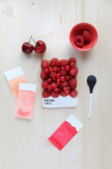 Pantone inspiration.  Tarta de diseñadora culinaria Emilie de Griottes- Revista Fricote.