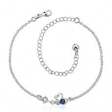 Silver Anklets Online Shopping SPA008-A