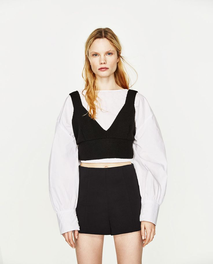 Image 1 of HIGH WAISTED SHORTS from Zara