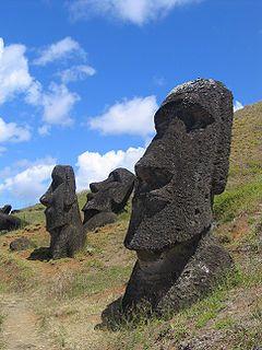 I'd like to open a mouth beside a moai :-)
