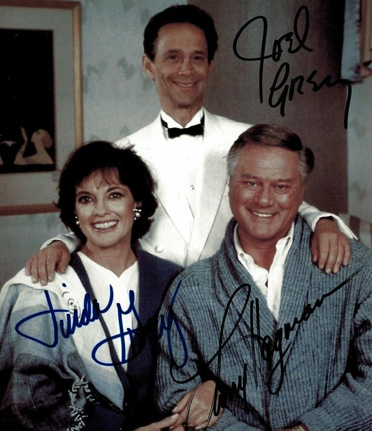hagman + gray  | Joel Grey, @Linda_Gray Larry Hagman pictured during the #Dallas series ...