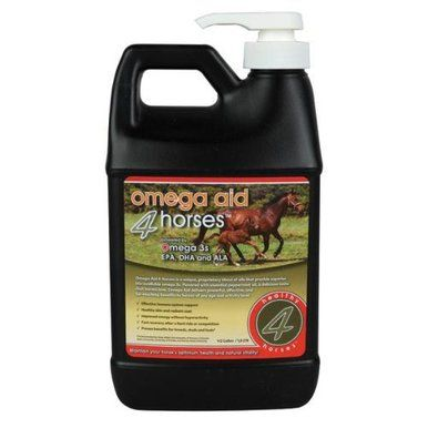 Grizzly Omega Aid for Horse Immune Support Healthy Skin Plastic Jug 1/2 gallon