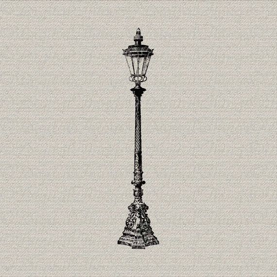 Vintage Lamp Post Outdoor Light Wall Decor Art by DigitalThings, $1.00