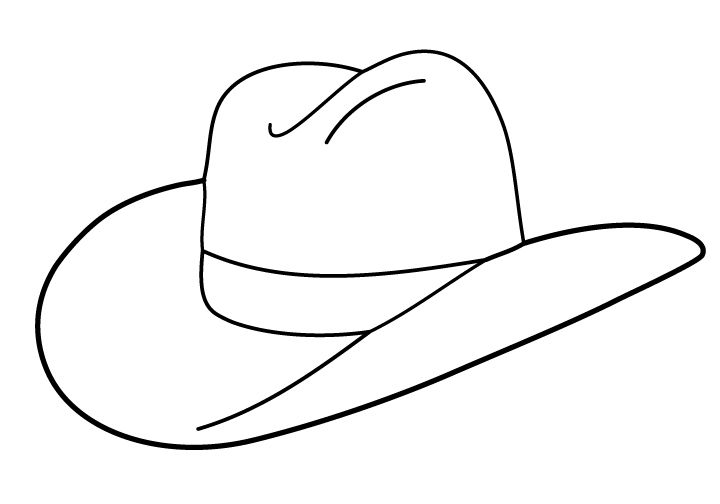 Free Cowboy boot outline | Folioglyphs: Cowboy Hat