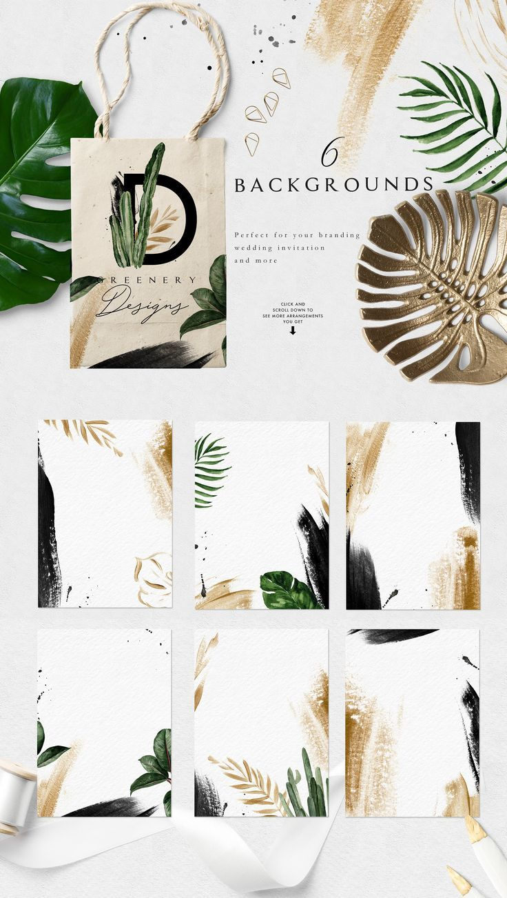Greenery Summer Design Set by Graphic Box on Creat…