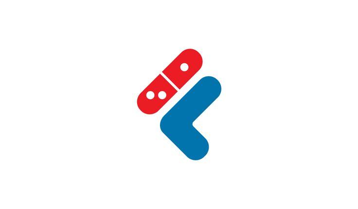 Sportswear x Fast Food logo design mashup: Dominos x Fila #logo #mcdonalds #nike #adidas #fila #burgerking #dunkindonuts #kfc #champion #underarmour #subway #puma #jordan #pizzahut #dominos #fila