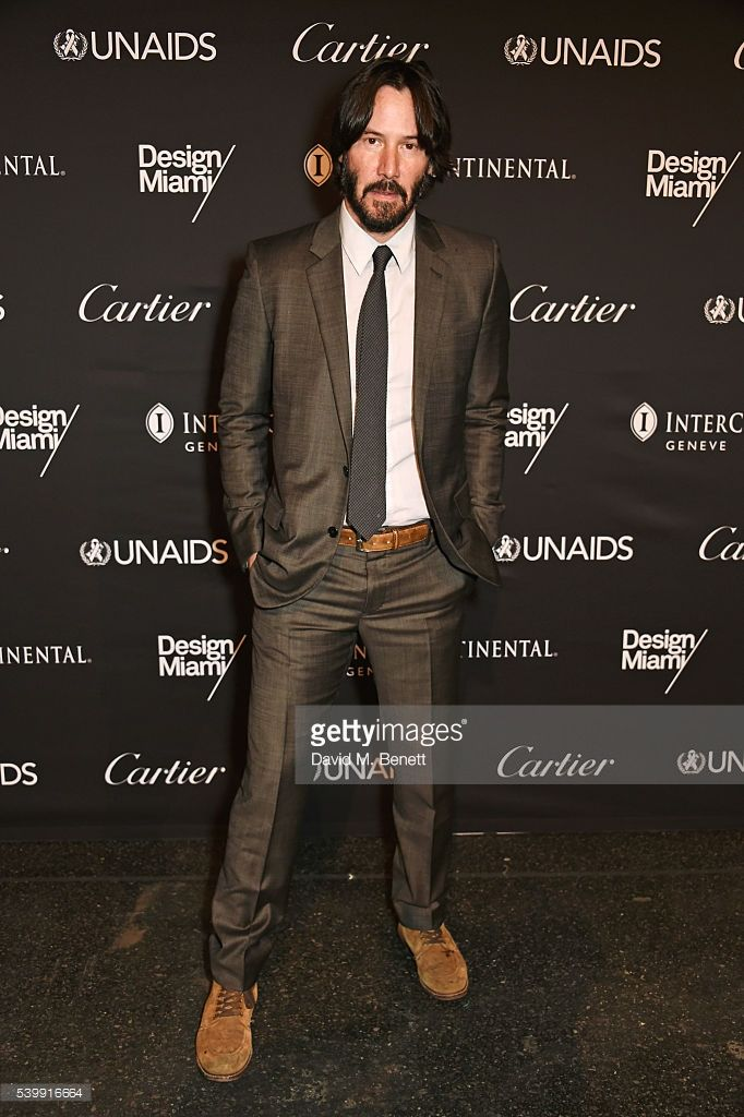 Keanu Reeves attends the UNAIDS Gala during Art Basel 2016 at Design Miami/ Basel on June 13, 2016 in Basel, Switzerland.