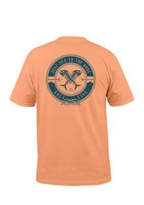 Salt Life Men's Deep Sea To The Bone Short Sleeve Tee Shirt - Grapefruit - 2Xl