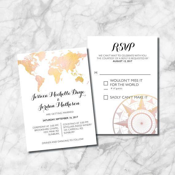 Best 25+ Map Wedding Invitation Ideas On Pinterest