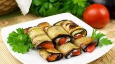 Rollos de berenjenas, Típica cocina ucraniana: recetas, fotos, info.