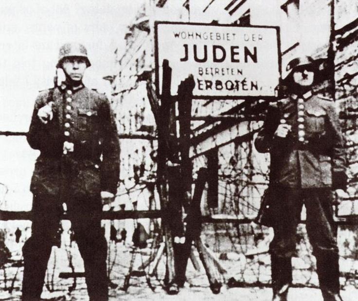 verboten/forbidden entrance to ghetto