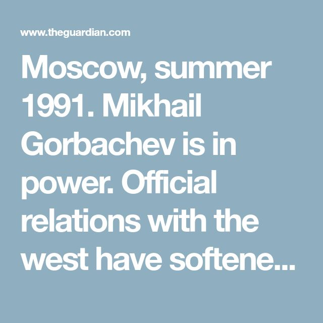 Moscow, summer 1991. Mikhail Gorbachev is in power. Official relations with the west have softened, but the KGB still assumes all western embassy workers are spooks. The KGB agents assigned to them are easy to spot. They have a method. Sometimes they pursue targets on foot, sometimes in cars. The officers charged with keeping tabs on western diplomats are never subtle.