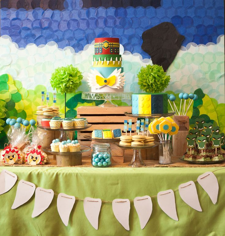 Lego Chima Party | Cake Paper Party this was a fantastic party and I can say how very blessed I am to be Summer's Mom and Maddie and Asher's grandma. To be a part of every celebration is amazing!! This party really shows off Cake.paper.party and Summer's creativity!