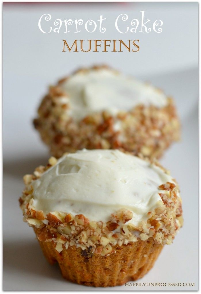 With or without the cream cheese icing these muffins are worlds healthier than what you buy at the store.  #cleaneating #muffins #breakfast