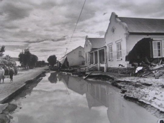 Laings Lodge after the flood.