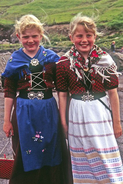 Faroese Girls in Native Dress,  I live without evil money, my purpose is 2 bring consciousness so you  won't support in anyway evil mind, evil money, we have 2 free us from ignorance, become conscious of our acts and deeds, don't support anybody that pollutes, torture animals 4 medical research and meat, wars are a creation 4 control and greed, go self-sufficient,   http://www.youtube.com/NinaOhman, https://www.youtube.com/channel/UC56HBHimnfnkEx-D5hRSTUg