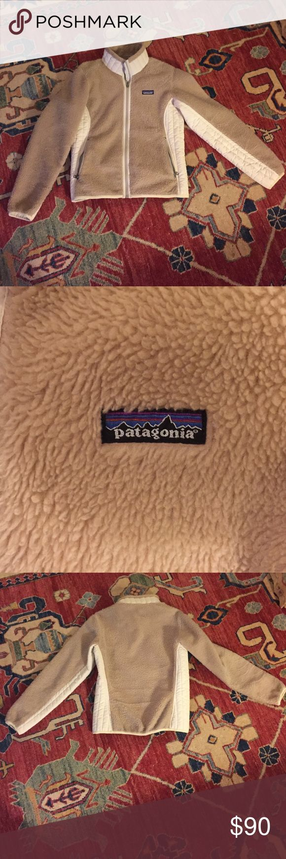 Patagonia synchilla jacket Great beige and cream Patagonia synchilla jacket. Used but in great condition. Women's Small. Patagonia Jackets & Coats