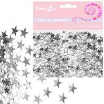 товары для праздника, Конфетти фольгированное Звезды серебряные 14гр