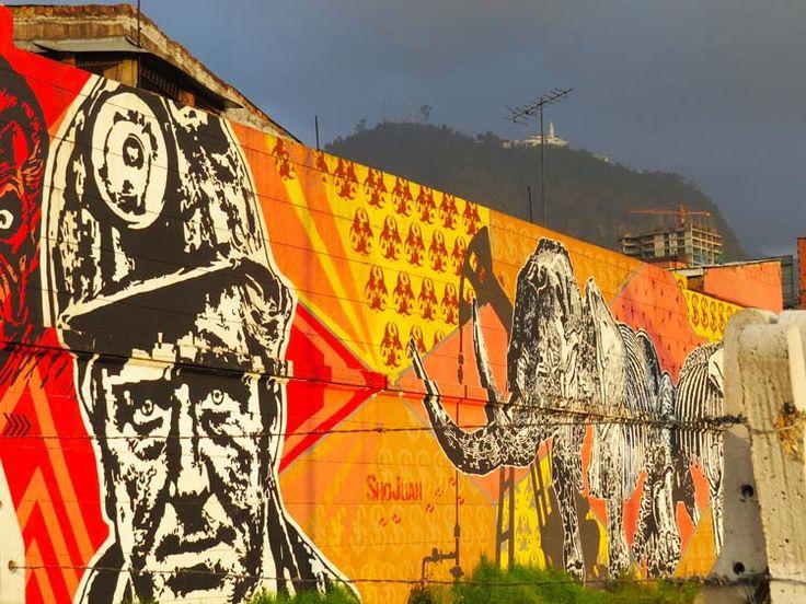 15. Por encima de este Graffiti se puede ver Monserrate.